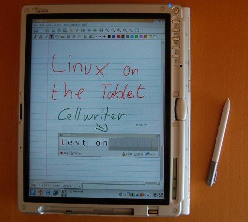 """Betrieb als Tablet mit xournal und cellwriter Fenster """"on top"""""""